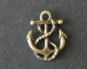 1 charm anchor bronze color 17 x 14 mm
