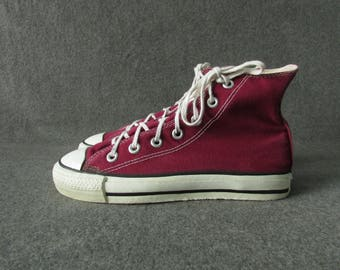 90s Vintage Converse All Star Chuck Taylor Hi Made in USA Size UK4/EUR36-37