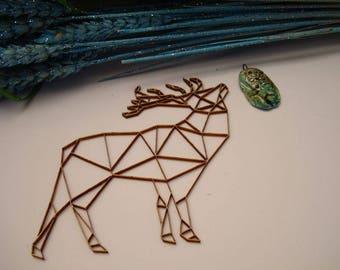 Deer origami 02048 embellishment wooden creations