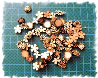 Miniature flowers 1012 wooden with its variation of colors