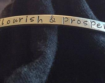 Flourish and Prosper Cuff