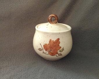 Poppy Trail by Metlox-Woodland Gold pattern-sugar bowl