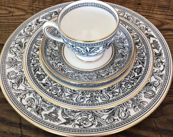 price Reduction! Wedgwood Florentine Pattern China. 11 Place Settings