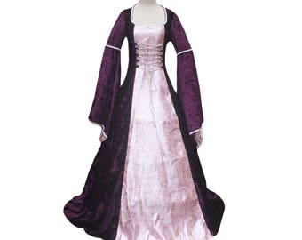 Renaissance Medieval Queen Game of Thrones  Colonial Dress Vampire Witch Halloween Costume Victorian Period Dress Ball Gown Reenactment