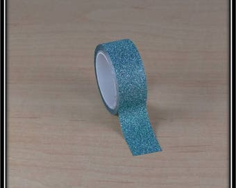 green glitter tape with 15mm x 3 m water masking