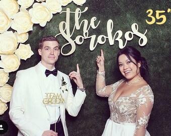 Laser Cut Wedding Sign, Wedding Sign, Engagement Sign, Last Name Sign, Last Name Cut Out Sign, Wooden Sign, Photo Booth Decor, Wedding Decor