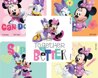 """25 Minnie Mouse and Daisy Duck Stickers, 2.5"""" x 2.5"""" Each"""
