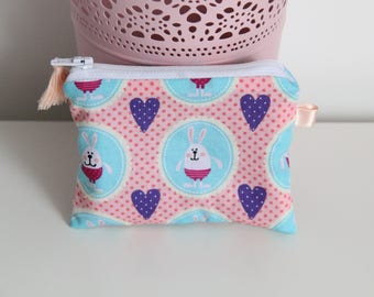 """""""The rabbit from Alice"""" purse with tassel"""