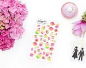 Watermelon Jewels Stickerset  - Aquarell Sticker - Pretty Planning - Scrapbooking - Bullet Journaling