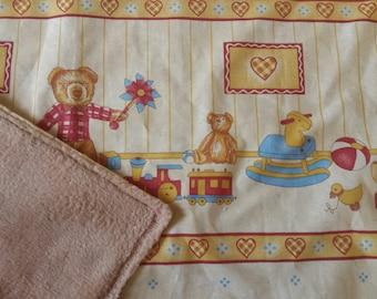 Teddy bear pattern baby blanket