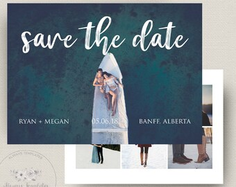 Minimalist Save The Date, Save The Date Template, Save The Date Printable, Wedding Announcement, Instant Download, PSD Template, 5x7