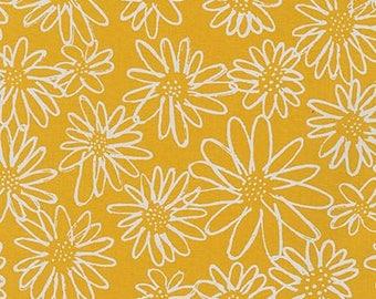 Blueberry Park Scruffy Daisy in Grellow Half Yard Cut - AWI-15747-368 - Karen Lewis - Robert Kaufman Fabrics