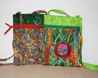 Hand-made brightly patterned child's bags