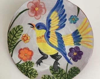 Blue Bird Plate