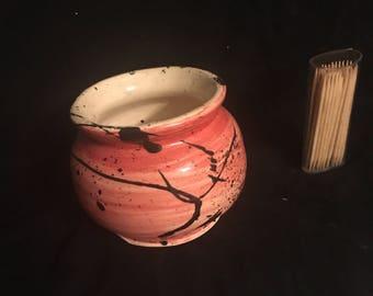 Small Splattered Ceramic Vase