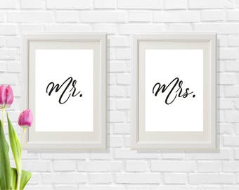 Groom and bride gift, Groom and bride prints, Husband and wife prints, Husband and wife gift, Simple and modern wedding gift