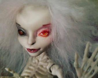 Ooak Customized Monster High doll.  (Skelita)