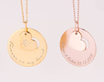 Custom Gold Name Necklace∙Couple personalized jewelry∙Valentine jewelry for women∙Valentine Personalized Necklace Valetine day gifts#NHC001