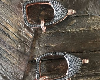Rose-Gold Tone Pave Clasp