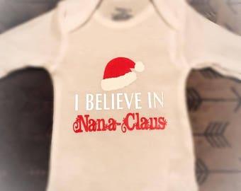 Christmas Nana onesie
