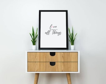 "Love The Greatest Of All Things 18x24"" Digital Print"