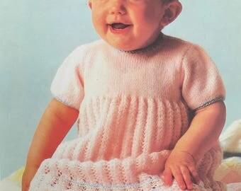 PDF Knit Baby Lace Smock