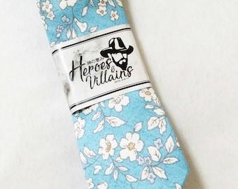 Spring blue skinny tie,mens tie,dapper ties,neck ties,bow ties,groomsmen tie,wedding ties,wedding bow tie, suspenders,wool tie,floral ties