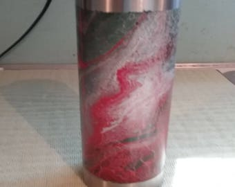 Hydro-dip painted insulated cup