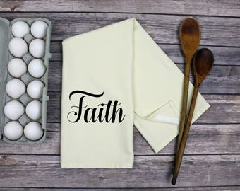 Kitchen Dish Towel - Tea Towel - Faith