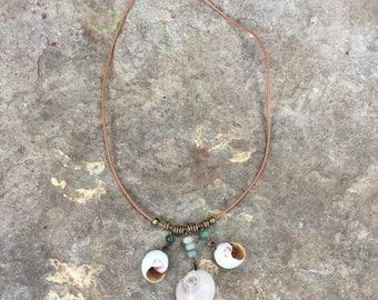 Shark's Eye shell necklace