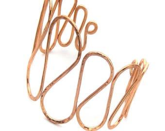 Copper Scroll Cuff