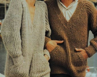 Loose Sweaters, Easy & Quick, Knitting Pattern. Instant Download.
