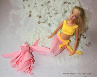how to make a barbie mermaid tail