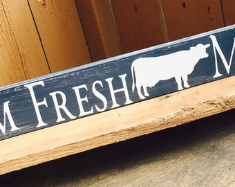 Wooden/Hand Brushed Country Cow Sign***