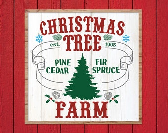 Christmas Tree Farm SVG, Joanna Gaines Christmas SVG, Magnolia Market Christmas, Fixer Upper Christmas, Vector, Stencil, Print, Cut File