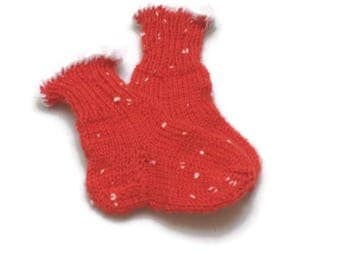 Baby christmas socks red with white speckles First chiristmas cute baby socks