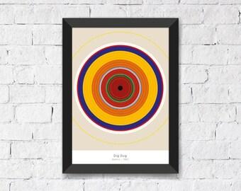 Dig Dug • Namco • 1982 - Abstract Art Print A3/A4
