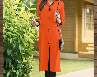 Cotton Reyon Heavy Kurti
