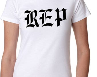 Ladies White New Taylor Swift Reputation REP Only Graphic T-Shirt Shirt Fashion Tee - Free Shipping