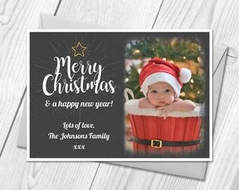 Christmas Cards & Envelopes | Personalised Photo Xmas Cards | Festive Postcards