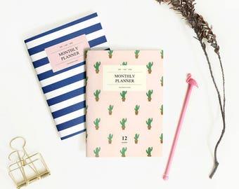 2018 CACTUS MONTHLY PLANNER | Monthly Planner | Monthly Diary | Small Planner | A6 Planner | 2018 Planner | Korean Planner | Marine Planner