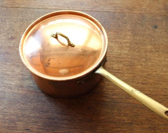 Copper Saucepan with Lid made by Tagus