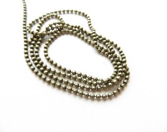 1 m ball chain bronze 2.4 mm