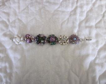 Repurposed Vintage Cluster Bead Bracelet