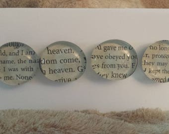 Faith Text Glass Gem Magnets