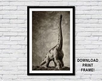 Dinosaur poster,Brachiosaur,Dinosaur,print,Brachiosaurus poster,Paleontology poster,Prehistoric animals,Jurassic, Science, Wall Art,Decor