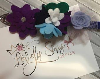 Beautiful purple blossom tiara