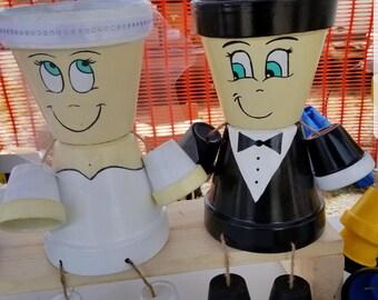 Wedding couple pot person
