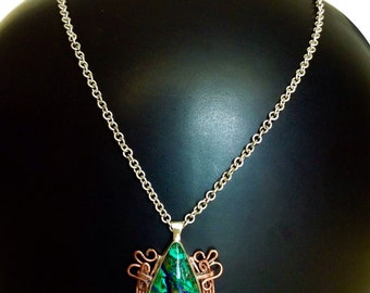 Chrysocolla and Silver 950 Pendant