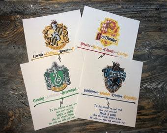 Harry Potter house wish bracelet.Ravenclaw-Hufflepuff-Gryffindor-Slytherin wish bracelet.Harry Potter jewelry.Harry Potter party favors